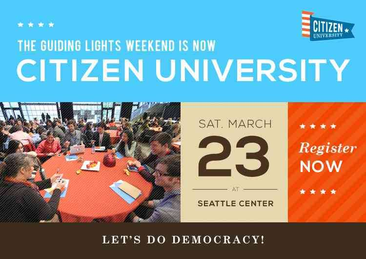 "Check it out! jacobsoboroff:  I'm speaking this weekend in Seattle at Citizen University about my work with Why Tuesday? and more. My talk is called ""How To Ask Why? In Public."" Hope you see you there!"