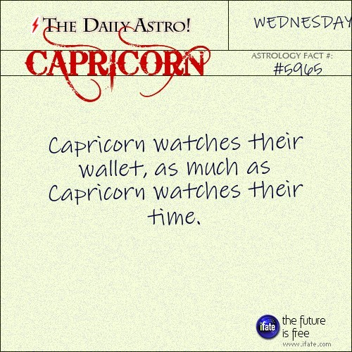 dailyastro:  Capricorn 5965: Visit The Daily Astro for more Capricorn facts.