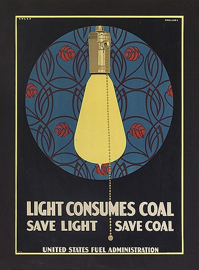 startwithsunset:  Save Light - Save Coal   (United States Fuel Administration) C. Coles Phillips