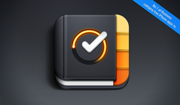 New iOS Icon for TimeDrive app went to No.1 at Business Catagory free iPhone apps in Russia. Like it on dribbble