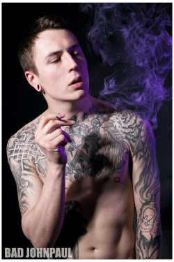 www.bombhearts.com James Cassells of Asking Alexandria …. a regular at the studio… Check out the website to order this print .. www.bombhearts.com