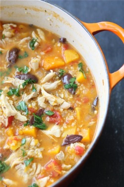 chicken stew with butternut squash & quinoa.