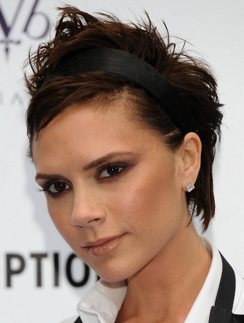 We love Victoria Beckham's short 'do here! Could you pull this off?
