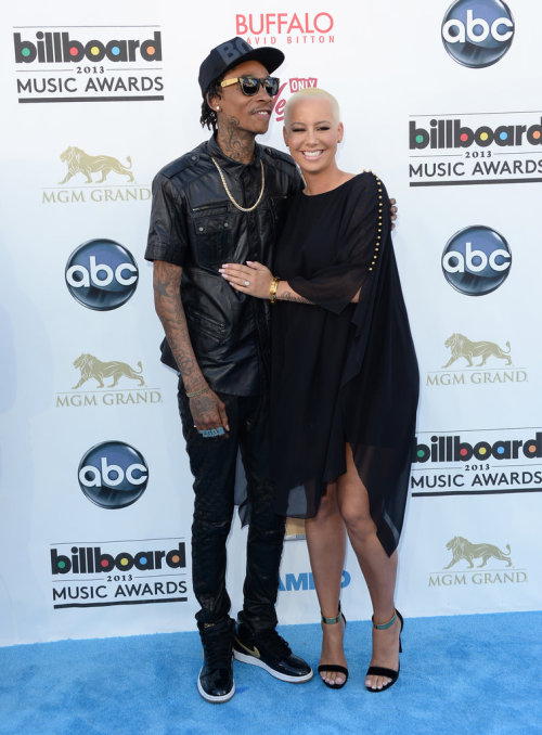 heart-addictions:  Amber Rose and Wiz Khalifa at the 2013 Billboard Music Awards.