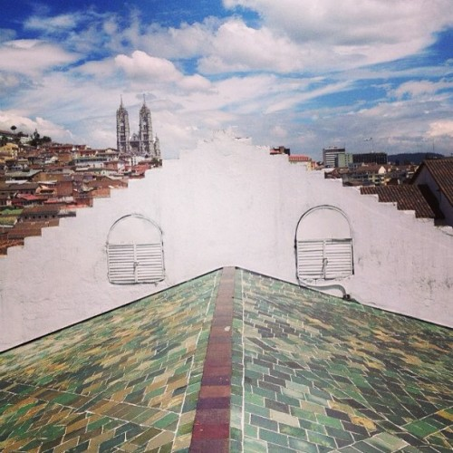 Roof tops in Quito.