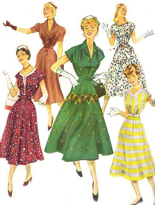 retro-girl811:  Vintage Dresses               1954