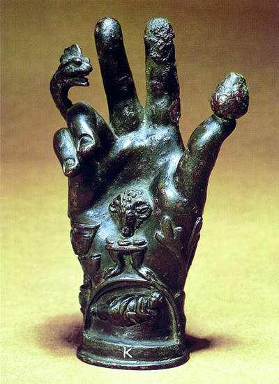 beatnikwitchery:  The Emblematic Hand of the Mysteries