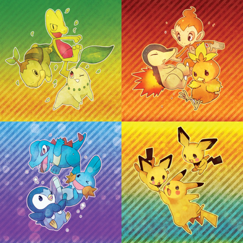 pokemonpalooza:  Pokemon:: Starter package by ~kissai