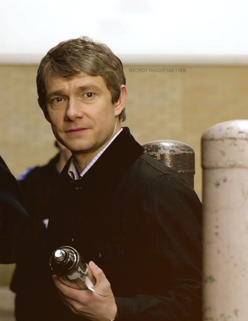mycroftknowsbetter:  I bet he was picturing himself killing sherlock. Pretty sure