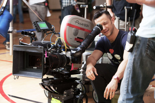 Joseph Gordon-Levitt on set of Don Jon