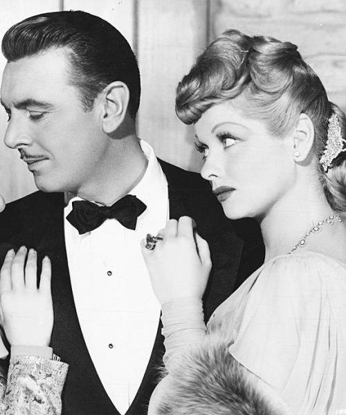 Lucille Ball and George Brent photographed for Lover Come Back, 1946
