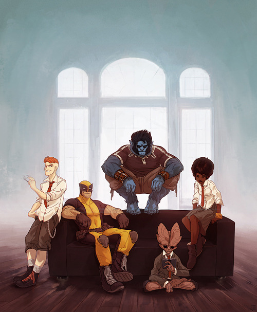 birdstump:   Wolverine and the X-Men, by Cake or Death | Moya