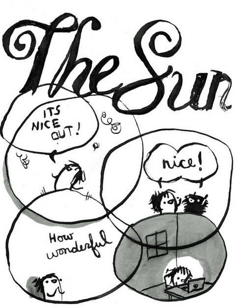 mutantfunnies:  Important Comics: The Sun. By Dina Kelberman.