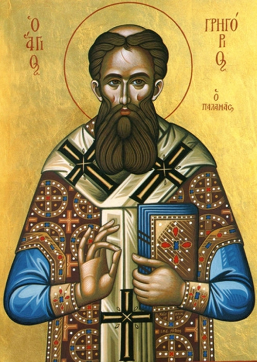 "Sunday of St. Gregory Palamas the Wonderworker This divine Father, who was from Asia Minor, was from childhood reared in the royal court of Constantinople, where he was instructed in both religious and secular wisdom. Later, while still a youth, he left the imperial court and struggled in asceticism on Mount Athos, and in the Skete at Beroea. He spent some time in Thessalonica being treated for an illness that came from his harsh manner of life. He was present in Constantinople at the Council that was convened in 1341 against Barlaam of Calabria, and at the Council of 1347 against Acindynus, who was of like mind with Barlaam; Barlaam and Acindynus claimed that the grace of God is created. At both these Councils, the Saint contended courageously for the true dogmas of the Church of Christ, teaching in particular that divine grace is not created, but is the uncreated energies of God which are poured forth throughout creation: otherwise it would be impossible, if grace were created, for man to have genuine communion with the uncreated God. In 1347 he was appointed Metropolitan of Thessalonica. He tended his flock in an apostolic manner for some twelve years, and wrote many books and treatises on the most exalted doctrines of our Faith; and having lived for a total of sixty-three years, he reposed in the Lord in 1359. His holy relics are kept in the Cathedral of Thessalonica. A full service was composed for his feast day by the Patriarch Philotheus in 1368, when it was established that his feast be celebrated on this day. Since works without right faith avail nothing, we set Orthodoxy of faith as the foundation of all that we accomplish during the Fast, by celebrating the Triumph of Orthodoxy the Sunday before, and the great defender of the teachings of the holy Fathers today.Resurrectional Apolytikion in the Second Tone  When You descended unto death, O Lord who yourself are immortal Life, then did You mortify Hades by the lightning flash of Your Divinity. Also when You raised the dead from the netherworld, all the Powers of the heavens were crying out: O Giver of life, Christ our God, glory be to You. Apolytikion in the Plagal of the Fourth Tone  O Gregory the Miracle Worker, light of Orthodoxy, support and teacher of the Church, comeliness of Monastics, invincible defender of theologians, the pride of Thessalonica, and preacher of grace, intercede forever that our souls may be saved. Seasonal Kontakion in the Plagal of the Fourth Tone  To you, Theotokos, invincible Defender, having been delivered from peril, I, your city, dedicate the victory festival as a thank offering. In your irresistible might, keep me safe from all trials, that I may call out to you: ""Hail, unwedded bride!"""