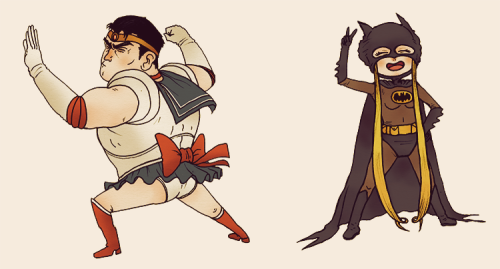 paperbeatsscissors:  FREAKY FRIDAY astridlovesanime suggested Bruce Wayne and Sailor Moon so, yeah, obviously. Who should trade places next week?