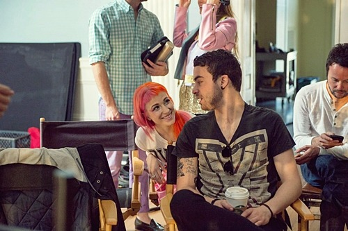 on set of music video Still Into You