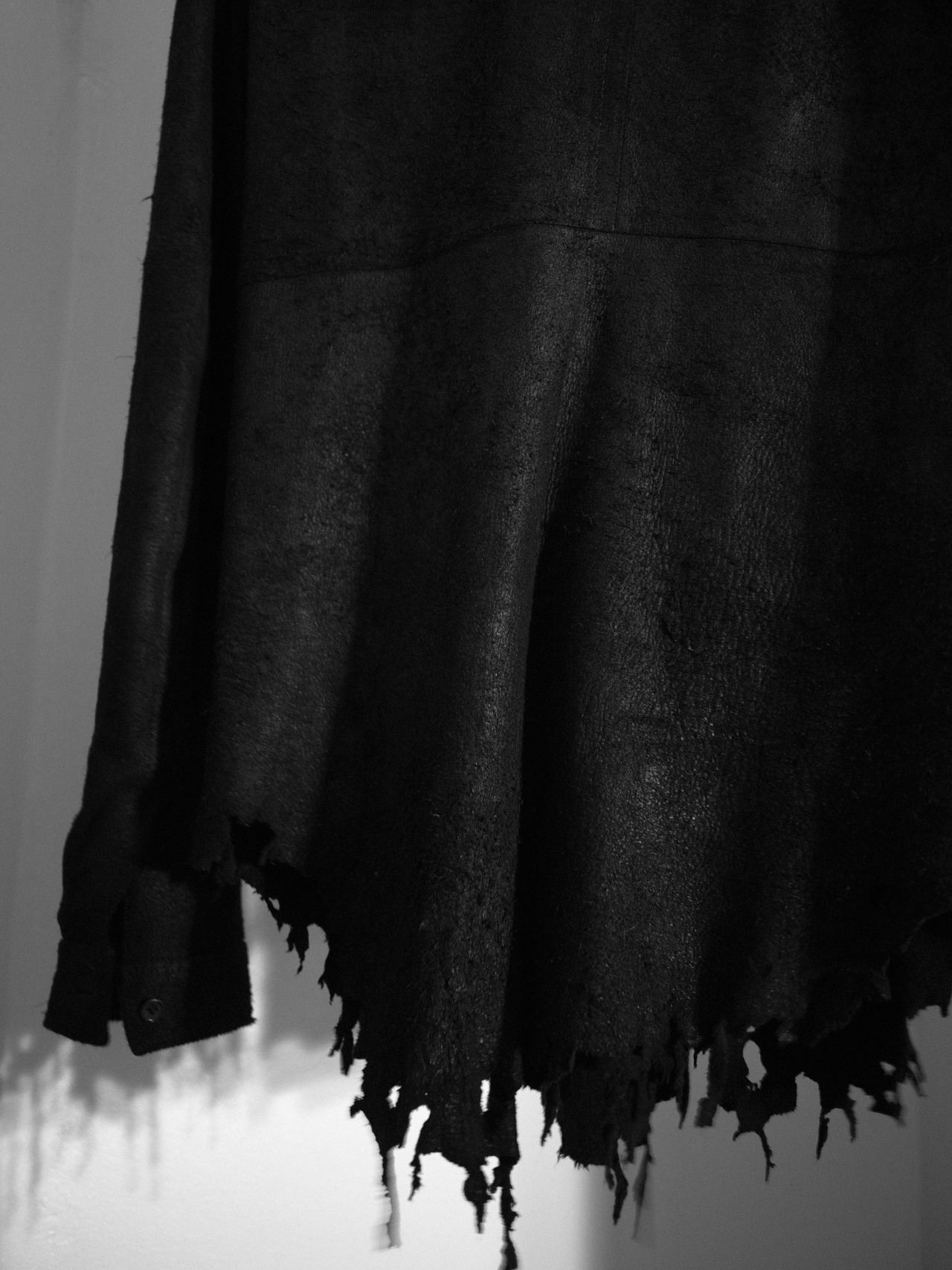 shuitsang:  Julius Deerskin Shredded Hem Buttons up, Spring/Summer 09.