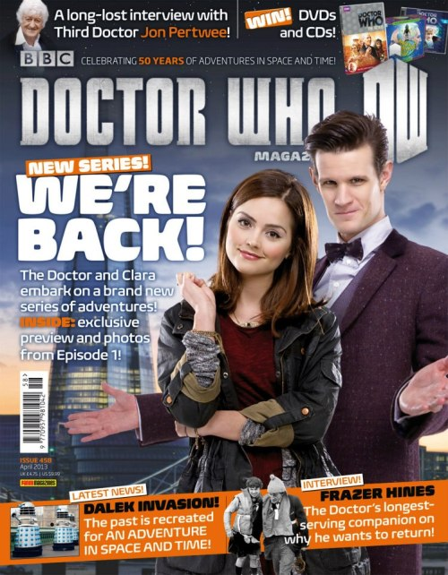 The cover of Doctor Who Magazine #458