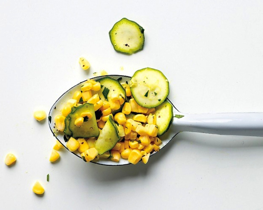 Raw Corn And Zucchini Salad by Martha Stewart
