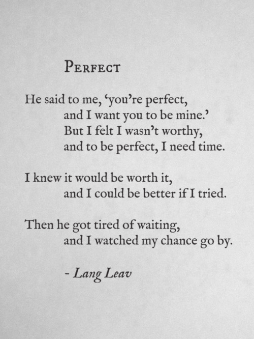 langleav:  Perfect by Lang Leav