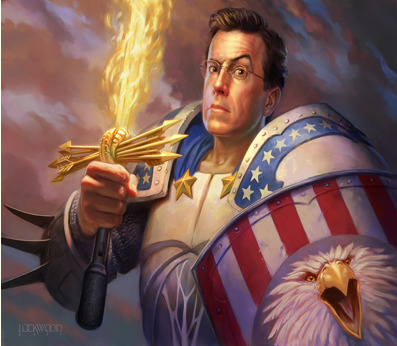 World of Warcraft Trading Card Game featuring Stephen Colbert. It was ultimately rejected.Posted by Peter