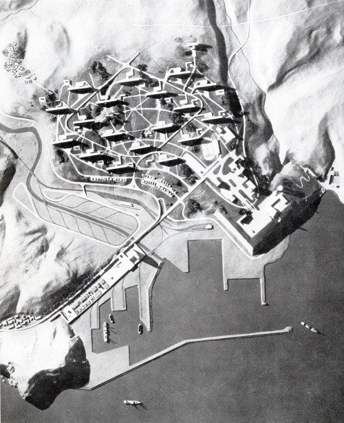 © le corbusier - city planning - nemours, algeria - 1933