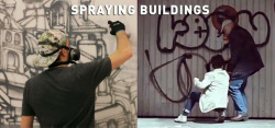 BSA Special Double Feature: About Spraying BuildingsPeace and Love Crew at Klughaus, http://www.brooklynstreetart.com/theblog/2013/05/03/bsa-film-friday-05-03-13/ via @bkstreetart #streetart Jilly Ballistic for Degas, JR Documentary Our weekly focus on the moving image and art in the streets. And other oddities.Now screening: Gorey & PAL Crew at Klughaus, Crack & Shine – PAL Crew Profiled, Jilly Ballistic: Wild in The Streets, and JR: INSIDE OUT screenshots, copyright of Klughaus and OffTheWall.TV.
