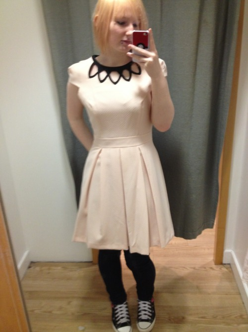 My favourite of the dresses I tried on. It's so pretty. Wish I wasn't so pale though :( it comes in a black version with white collar thing too though :3 may need to buy one of them as would nice to see without the jeans and converse haha