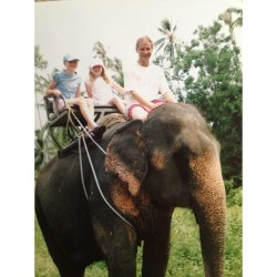 Thailand 2005 #elephant #charlotte #me #daddy #thailand #holiday #rainforest #nofilter #whitagram #instagood