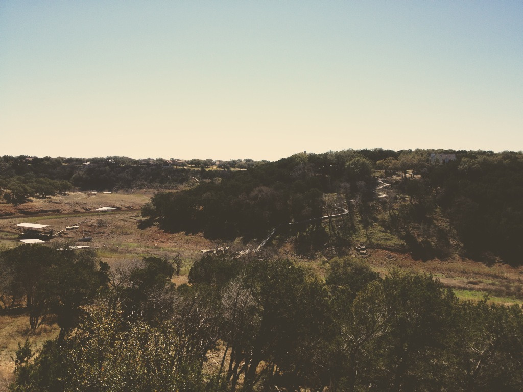 Dried up riverbed outside of Austin