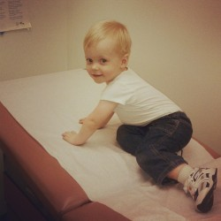 At his 2 year checkup! ❤ #tbt