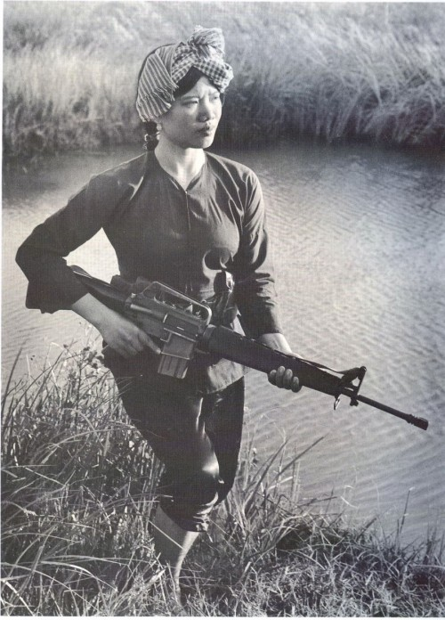 historicaltimes:  Female Viet Cong Warrior c.1973.