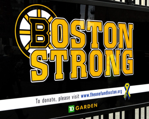 we could all use some of this today. Boston Strong. I took this photograph on Thursday evening, on my way home, outside of the Boston Garden.
