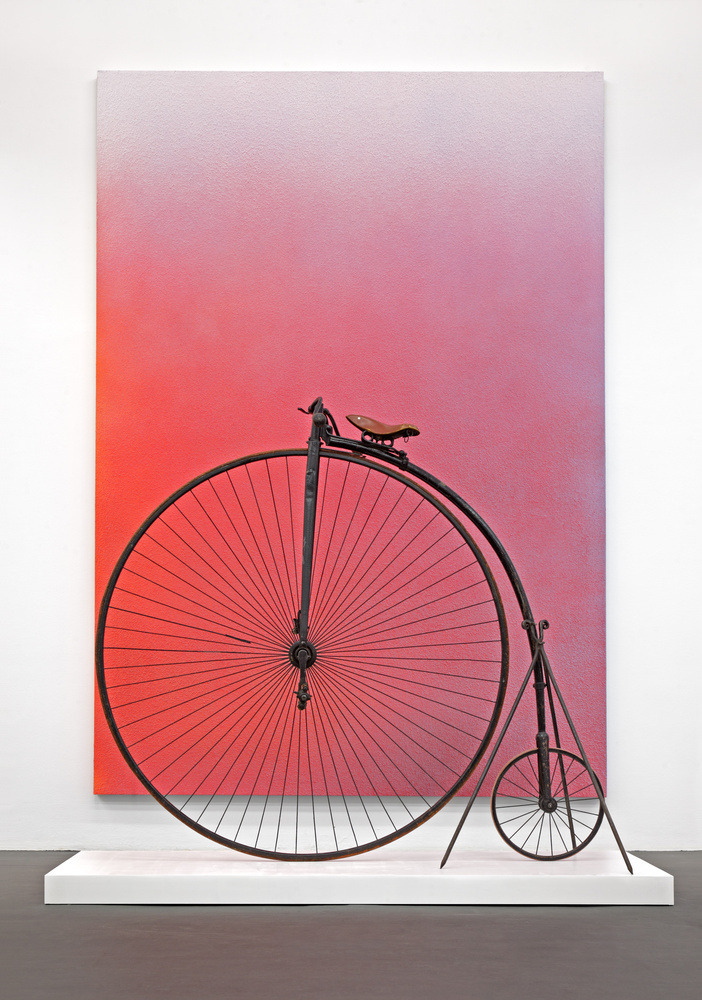 exasperated-viewer-on-air:  Alex Israel - Cycle, 2011  rented cinema prop dim. unkn.