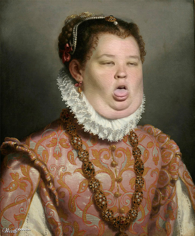 flavorpill:  laughingsquid:  Classic Paintings Recreated Using the Faces of Modern Celebrities  omg