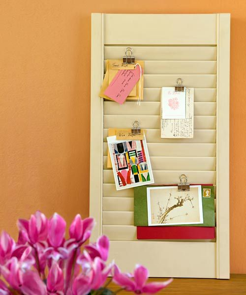 thisoldhouse:  Shutter Turned Idea Board(Photo: Polly Wreford/IPC Images)