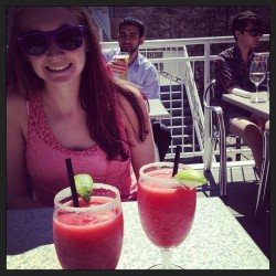 Strawberry Daiquiris on the patio with @Blovelock! #summer #drinks #love (at Mr Green Jeans)