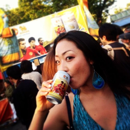 SINGHA beer sponsors MAN U?! (at タイ・フェスティバル Thai Festival)