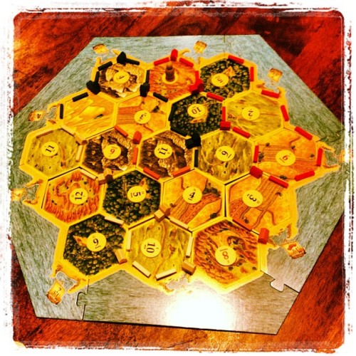 Some serious strips of land. #settlersofcatan #catan @jhoneyro  (at The Attic)