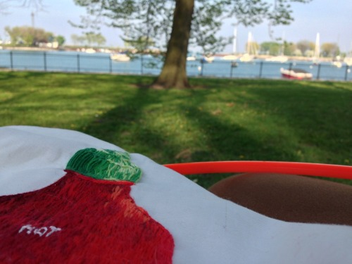 Spent today embroidering by the Lake.