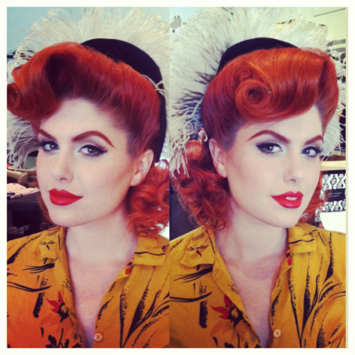 atomictantrum:  I did Doris May Day's hair for a 1940s themed shoot this past Sunday! There's more than just victory rolls ladies! His Vintage Touch By Tony Medina. Makeup By Micheline Pitt. **Do not remove credits**