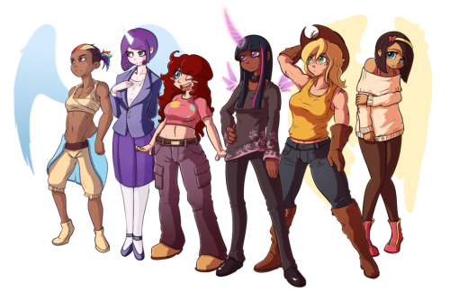 theponyartcollection:  Full Set by *Fore-Trekker