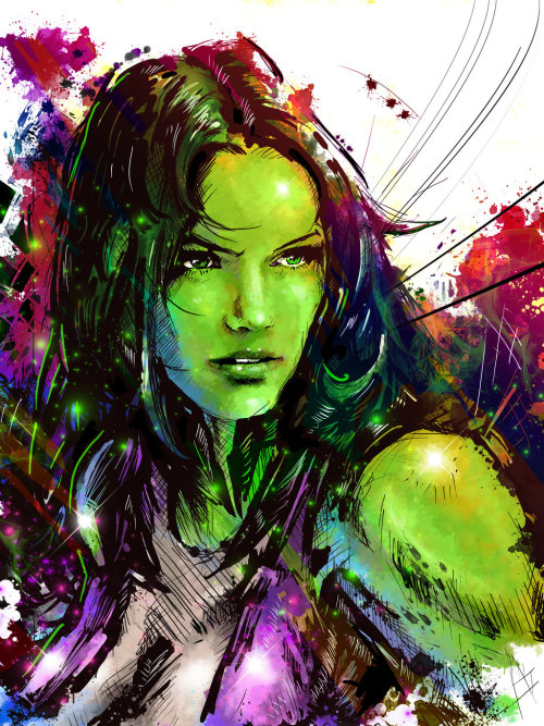 herochan:  She Hulk Created by Vincent Vernacatola  Society6 || deviantART || Tumblr