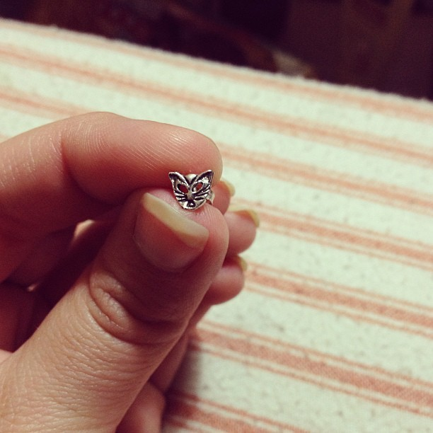 Tiny cat studs. #earring #stud #cat #silver #tiny #love #imnotahipster