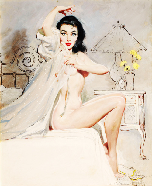 vintagegal:  Illustration by Ernest Chiriacka, 1953