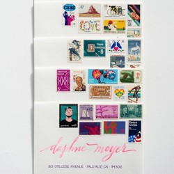 Did you know that the first Love stamp was released in 1973? Can you spot all of the Loves here? Beautiful calligraphy by @annerobincallig #love #lovestamp #vintagepostage #snailmail