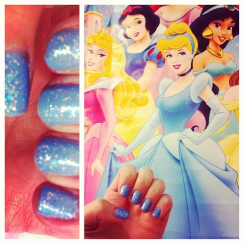 #disney #princess #nails #pretty Cinderella inspired nails 💎👑