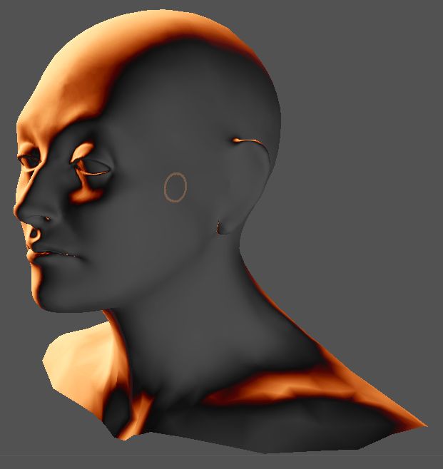 And now I have a digital mesh of my own head. Awesome.
