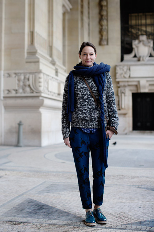 Print-mixing excellence from the Sartorialist.