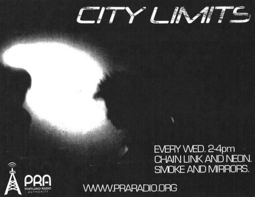 I guest DJ this Wednesday  4/24  on PRA's 'City Limits'  tune in* from 2-4pm Pacific Daylight Time